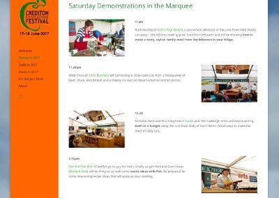 Website-Crediton Food Festival-demos
