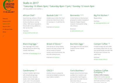 Website-Crediton Food Festival-stalls